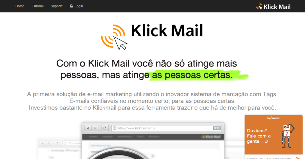 email marketing simples facil eficiente klick mail ideiasquevendem